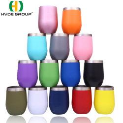 12oz colorida Forma de Huevo de bloqueo de la taza de café vacío aislado de la Copa de acero inoxidable