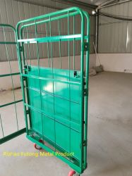 Roll Container MultiTier Opvouwbaar magazijn draad Mesh Logistic Trolley