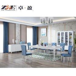 Moderner Entwurfs-Ausgangsmöbel-reiner weißer Farbe MDF und hölzerne Speisetisch-Möbel mit dem Speisen des Schrank-und Wein-Kastens