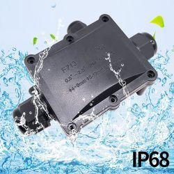 OEM黒いIP68はジャンクション・ボックスワイヤーケーブルの端子ブロック3の穴3の方法防水ジャンクション・ボックスを防水する