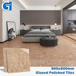 Commerce de gros 80X80 Cm grade AAA carré multicolore plancher intérieur Nano polonais mosaïque vitré