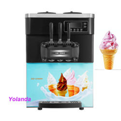O verão 3 sabores Mini tampo da mesa da máquina de gelo gelado creme fazer sorvete máquina de venda de livros com Envio gratuito