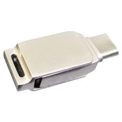 Fördernder kundenspezifischer Firmenzeichen-Metallschwenker USB 2.0 3.0 8GB 16GB 32GB Typ Blitz-Laufwerk c-OTG für Android und iPhone (UL-OTG019)