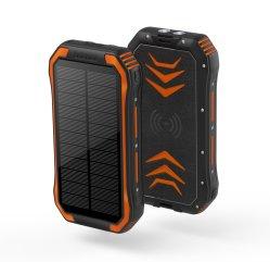شاحن محمول USB الهاتف المحمول الهاتف المحمول الطاقة الشمسية اللاسلكية بنك 300 مللي أمبير/ساعة مع مصباح وامض LED لنداء النجدة في حالات الطوارئ