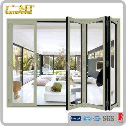 アルミニウムBi折るドアかアルミニウム折れ戸またはマルチ葉のドア/バルコニーのドア