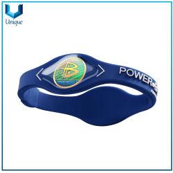 Mayorista de fábrica de regalo personalizado personalizado Healthcare Deporte pulsera de silicona Power Balance energético, la moda Pulsera saludable para regalo promocional