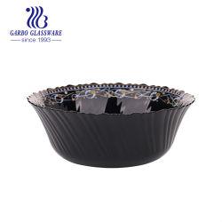 schwarze Opalfilterglocken des ausgeglichenen Glas-9inch mit Abziehbild Hy13ltw90-T51