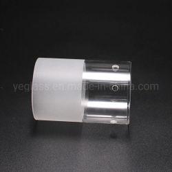 Soufflé en verre borosilicaté de cylindre en verre dépoli clair tube lampe de l'ombre de l'éclairage capot