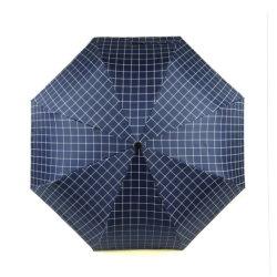 3 guarda-chuva vento automática de dobragem Plaid coloridos a impressão de tecido guarda-chuvas personalizados