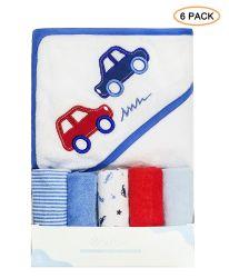 منشفة الأطفال منشفة ذات قلنسوة صغيرة ومجموعة من قماش الغسيل