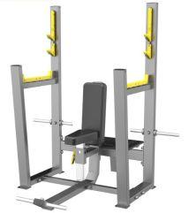 El entrenamiento de fuerza Indoor ejercicio asentada la banqueta de peso para el cuerpo entrenar