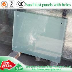 투명 유리 샌드블래스트 크래프트 강화 캐비닛 문 홈 장식