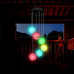 Ganges SA 솔라 램프 솔라 에너지 윈드 차임벨 램프 색상 파티클 볼 윈드 차임벨 코트야드 LED 아웃도어 태양열 가로등