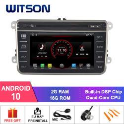 Processeurs quatre coeurs Witson Android 10 Navigation DVD de voiture pour VW B6 Microphone externe inclus, construit en fonction SSPP