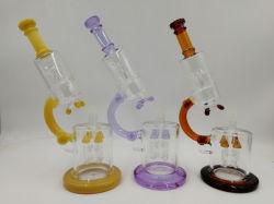 2019 Vidro Microscópio grossista de fábrica de vidro de formato pequeno tubo de perfuração do tubo de água de vidro do tubo de tabagismo de vidro