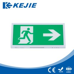 An der Wand befestigte LED Ausgangs-Zeichen des Eigentest-Notausgang-des Zeichen-LED