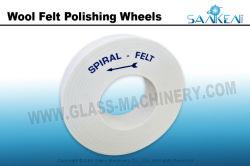 Feutre de laine de verre concurrentiel de polissage pour roue de meulage et polissage de verre