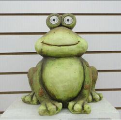 Lustiger Frosch-Solarpunkt-Licht-Frosch-Figürchen-Garten-Dekoration