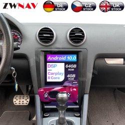 Android 9.0 Système de navigation GPS pour voiture Audi A3 voiture enregistreur à cassette radio lecteur de DVD