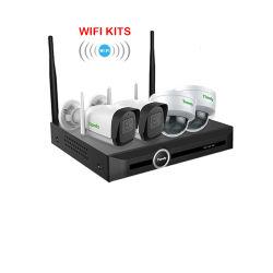 Nouveau kit de WiFi Tiandy 2020 5CH HD Vidéo de vision nocturne infrarouge Surbeillance NVR sans fil 4PCS Outdoor Indoor 2MP Kits de Système de vidéosurveillance WiFi caméra IP de sécurité