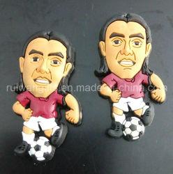 3D en PVC souple pour le club de football de l'aimant de souvenirs