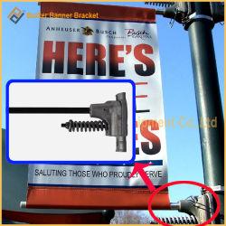 حامل شعار الإعلان في عمود الشارع المعدني الخفيف (BS-BS-017)