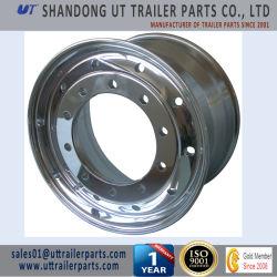 11.75x22,5 Llanta de aleación de aluminio pulido para camiones y remolques