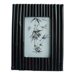 A cor preta moderna estrutura de imagem de bambu Photoframes