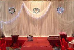 Pijp en LEIDEN Drap Gordijn met het Vouwen van Stadium voor Huwelijk