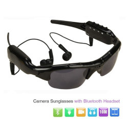 Hot Sellling HiFi MP3 Prise en charge Bluetooth caméra Lunettes de soleil TF carte de la RT-363