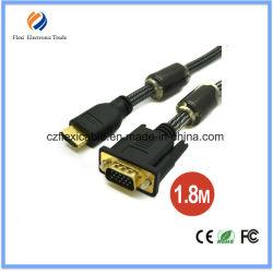 6FT 1.8m Mannelijke HDMI aan de Kabel van Converte van de Adapter VGA/DVI/RCA/