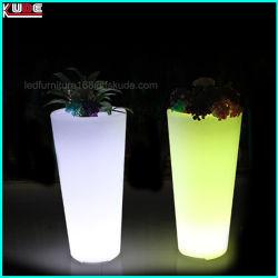 Potenciômetro de flores do jardim com iluminação LED acenda Plantadeiras Exterior