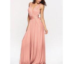 Вечером долго Prom платье поддержкой нескольких альтернативных путей оберните полу с откидным верхом свадьбы В.Путин Maxi платье высокая эластичность Esg13346