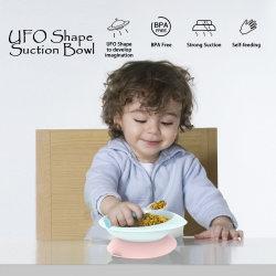 Base de succión de la alimentación de los alimentos lindo plástico caliente la alimentación y la cuchara taza Tazón de succión del bebé