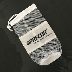 Tamanho personalizado de fundo redondo preto grande Cordão de Nylon PP transportar o saco de malha de rede de poliéster para a bola de futebol basquetebol
