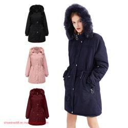ジャケットの下のサイズのコートと女性の冬は長く女性卸し売りジャケットの冬の新しい方法摩耗の長いパッファーのジャケットの外の摩耗の装いを暖めるCoat Winter Fashion Items