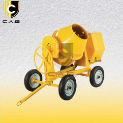 400L 드럼 견인 가능 4륜 디젤/가솔린 엔진 또는 전기 콘크리트 믹서