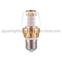 7W Bombilla LED de aluminio con vidrio Shell y E14 y E27 titular