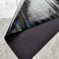 خلفية سويدي مقلدة مع سطح تأثير قوس قزح وملمس ناعم