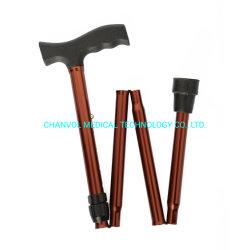 Bâton de marche de Canne en aluminium portable pliable effectuer de réglage de hauteur de sac à main