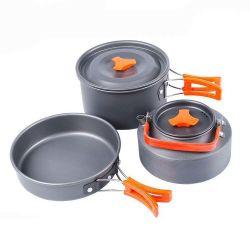 Piscina Camping Definir Pot Conjunto portátil Pot fogão fogão chaleira Combinação Piquenique Portátil Fogão Chefe de mesa