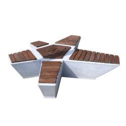 Высокое качество древесины и конкретные скамеек Grc деревянными стенде