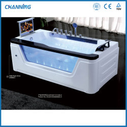 Роскошный Channing один горячая ванна джакузи в ванной есть отдельно стоящая ванна с джакузи с большой водопад (QT-228)