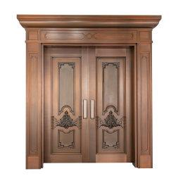 モダンな、質の高いカスタマイズ可能なダブルオープンタイプの銅製ドア デザイン