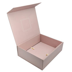 Luxus kundenspezifischer rosafarbenes Papierpappmagnetisches Falz-faltbares Magnet-Geschenk-verpackenkasten
