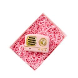 مجموعة ملونة 1 كجم / حقيبة قطع ديكور حفلة هدية مربع متعدد الألوان كرافت فتحة تعبئة ورق كرينكل مقسّم للتغليف