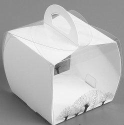 Usine de plastique de haute qualité traités les boîtes de boulangerie avec carte de papier
