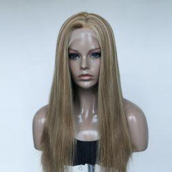 Meilleure qualité cheveux humains couleur de surbrillance Remplacement de cheveux en dentelle complète Systèmes