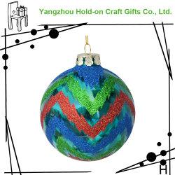 Ornamento de Navidad artesanía en vidrio patrón ondulado