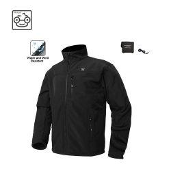Drahtlose erhitzte Umhüllungen-Kohlenstoff-Faser-Heizungs-Kleidungs-männliche Umhüllungen-thermische Kleidung mit 1PCS 10000mAh Batterie